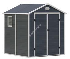 G21 PAH 357-188 x 190 cm műanyag szürke kerti ház 6390036