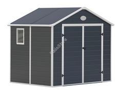 G21 PAH 523-188 x 278 cm műanyag szürke kerti ház 6390037