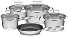 G21 Gourmet Magic 9 darabos edénykészlet fedővel rozsdamentes acél G21-001N