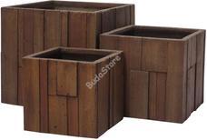 G21 Wood Cube virágcserép 55x55x52cm 6392632