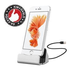 iPhone asztali telefontöltő ezüst HOP1000627-1