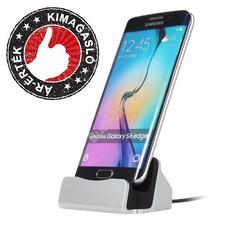 Asztali telefontöltő Micro USB csatlakozóval ezüst