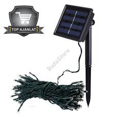 Napelemes kerti fényfüzér 100 LED hidegfehér 20 méteres