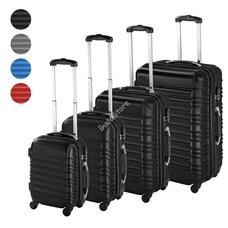 4 db-os merev falú bőrönd szett fekete HOP1000938-1