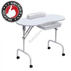 Mobil manikűr asztal fiókkal hordtáskával fehér HOP1000872-1