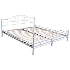 Fém ágykeret ajándék ágyráccsal 200x160cm-es fehér HOP1000897-2