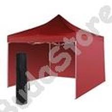 Kerti pavilon összecsukható 3 fallal hordtáskával 3x3m piros HOP1000807-2