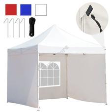 Kerti pavilon összecsukható 3 fallal hordtáskával 3x3m fehér HOP1000807-3