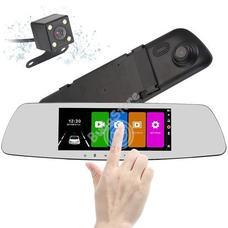 Érintőképernyős visszapillantó tükörbe épített eseményrögzítő és tolató kamera HOP1000843-1