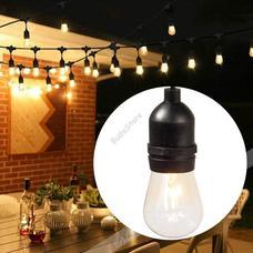 Vízálló dekor égősor 15db E27 LED lámpával 14,6m melegfehér HOP1000933-1