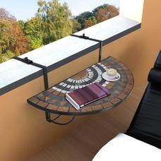 Lehajtható balkon asztal barna HOP1000929-2