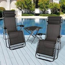 2 db zéró gravitáció kerti szék asztallal HOP1000918-1