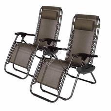 2 db zéró gravitáció kerti szék pohártartóval HOP1000830