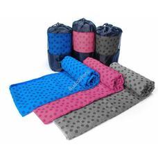 Csúszásgátlós jógatörölköző ajándék táskával kék HOP1000973-1