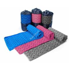 Csúszásgátlós jógatörölköző ajándék táskával szürke HOP1000973-3