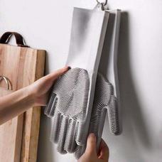 Szilikon mosogató és tisztító kesztyű szürke HOP1000974-4
