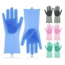 Szilikon mosogató és tisztító kesztyű kék HOP1000974-1