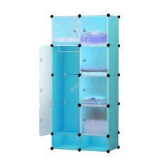Műanyag elemes szekrény kék HOP1000976-1