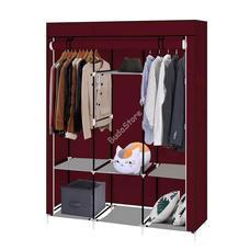 Mobil ruhásszekrény 130x45x170cm bordó HOP1000701-3