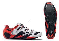 NORTHWAVE Cipő NW ROAD SONIC 2 3S 40,5 fehér/fekete/piros 80161015-53-405