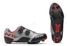 NORTHWAVE Cipő NW MTB REBEL 40 szürke/piros 80182042-80-40