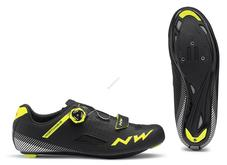 NORTHWAVE Cipő NW ROAD CORE PLUS 45 fekete-fluo sárga 80191014-04-45