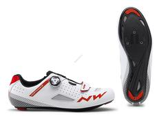 NORTHWAVE Cipő NW ROAD CORE PLUS 45 fehér-piros 80191014-52-45