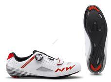 NORTHWAVE Cipő NW ROAD CORE PLUS 45,5 fehér-piros 80191014-52-455