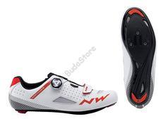 NORTHWAVE Cipő NW ROAD CORE PLUS 47 fehér-piros 80191014-52-47