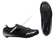 NORTHWAVE Cipő NW ROAD CORE PLUSWIDE48 szélesített verzió, fekete 80191018-10-48