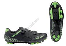 NORTHWAVE Cipő NW MTB ORIGIN PLUS 48 fekete-zöld 80192026-01-48