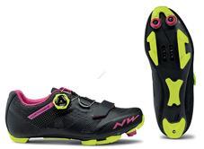 NORTHWAVE Cipő NW MTB RAZER WMN 40,5 női, fekete-fukszia-sárga 80192040-69-405