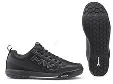 NORTHWAVE Cipő NW FLAT CLAN 45 fekete taposó pedálhoz 80193037-10-45