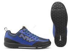 NORTHWAVE Cipő NW FLAT CLAN 44 kék- -narancs, taposó pedálhoz 80193037-28-44
