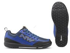 NORTHWAVE Cipő NW FLAT CLAN 45 kék- -narancs, taposó pedálhoz 80193037-28-45