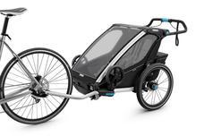 THULE Utánfutó TH Chariot Sport2 Bl fekete (tartozék krp.,sétáló,futó kit!) 2 gyerek TH10201012