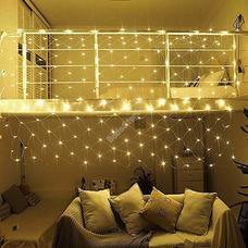 128 LED-es hálós fényfüzér melegfehér HOP1000988-2