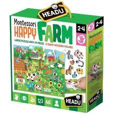 HEADU Montessori Puzzle - Vidám tanyasi élet