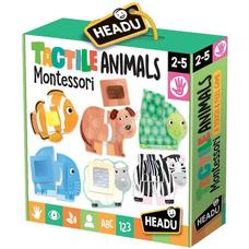 HEADU Montessori tapintós  puzzle - Állatok