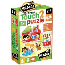 HEADU Montessori tapintós puzzle - A park