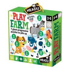 HEADU Multifunkciós  Puzzle - Játszás a tanyán