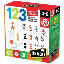 HEADU Fejlesztő puzzle - Számok és mennyiségek