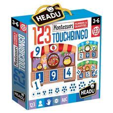 HEADU Montessori érintős puzzle társasjáték - Számolás