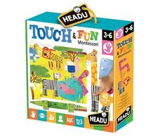 HEADU Montessori tapintós  puzzle - Állatkert