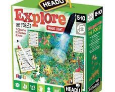 HEADU Megfigyelő puzzle mágikus lámpával - Fedezd fel az erdőt!