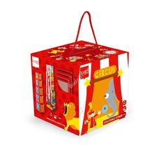 SCRATCH Toronyépítő kocka 5 db-os - Cirkusz
