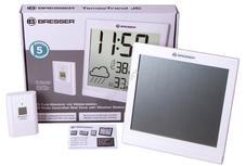 Bresser TemeoTrend JC LCD RC időjárás állomás/falióra fehér 73268