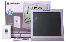 Bresser TemeoTrend JC LCD RC időjárás állomás/falióra ezüst 73269