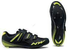 NORTHWAVE Cipő NW ROAD CORE 3S 43,5 fekete/sárga fluo 80191016-04-435