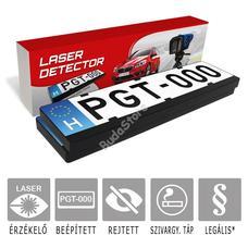 PGT LaserAlert 2 Lézeres traffipaxjelző 2db rendszámtábla keretbe épített szenzorral PGT-LSRALERT-02